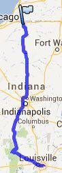 Von South Bend nach Louisville