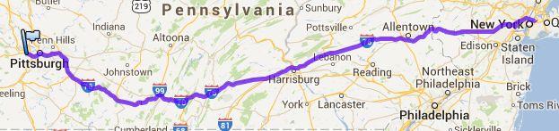 Von Pittsburgh nach Newark