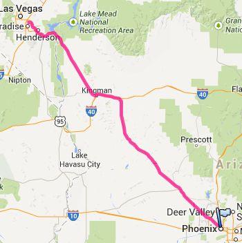 Von Phoenix nach Las Vegas