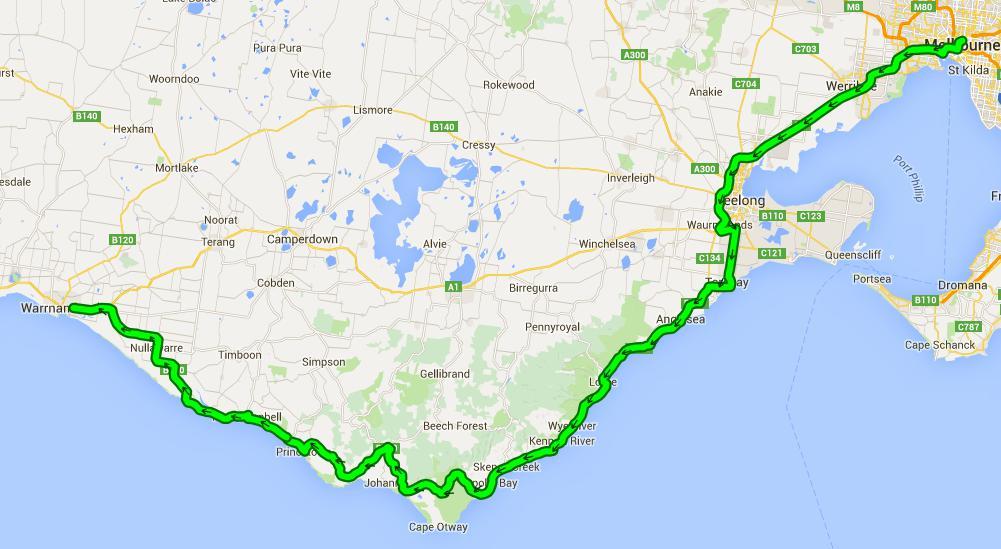 Von Melbourne nach Warrnambool