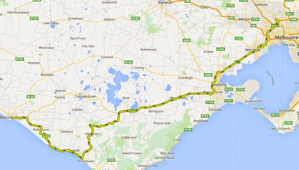 Von Warrnambool nach Melbourne