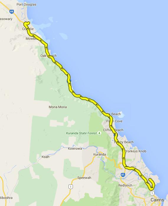 Von Cairns nach Port Douglas