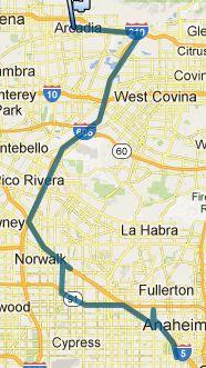 Von Anaheim nach Santa Anita