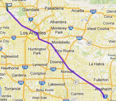 Von Anaheim in die Universal Studios