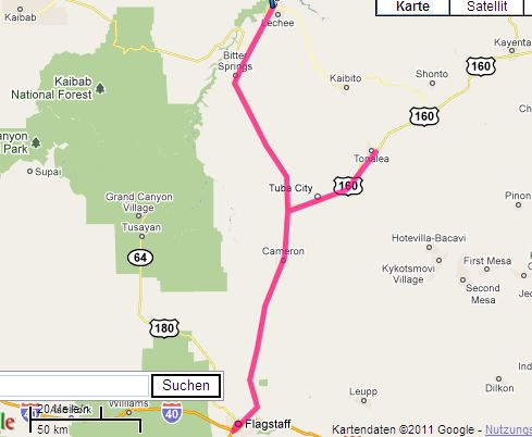 Route Flagstaff
